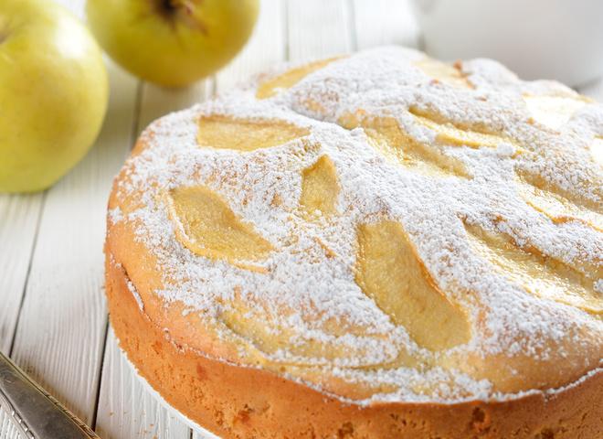 пп шарлотка с яблоками рецепт с фото