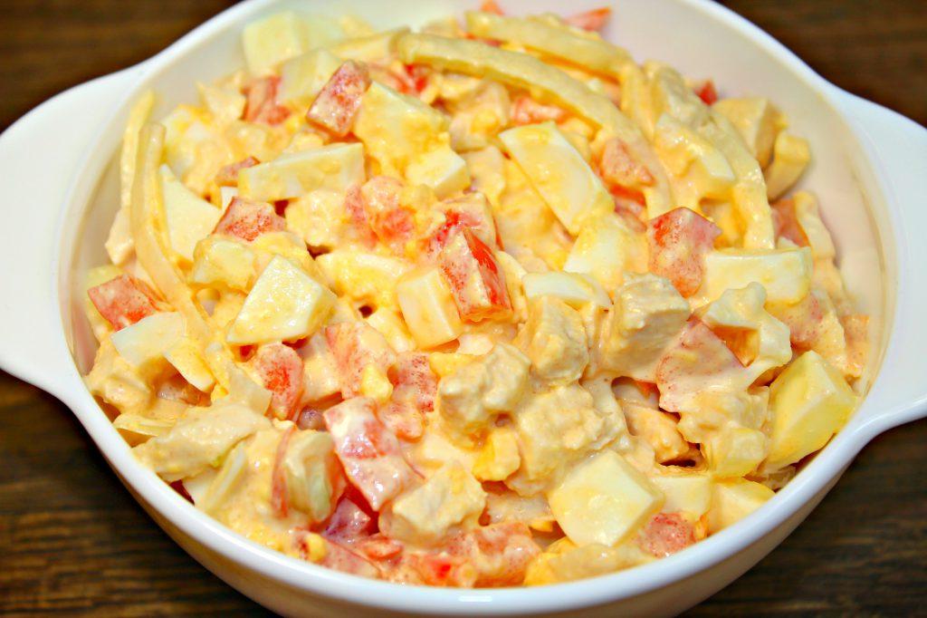 Салат из моего детства «День Рождения» и ещё не надоел! Всего-то 4 ингредиента! - Кулинарный сайт yamirecipes.net